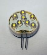 12 volt LED pære, 8 led, G4 so