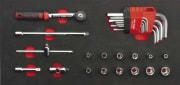 26 delers 1/4'' pipesett i modul for verktøyvogn