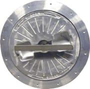 Rund aluminiums dørkluke