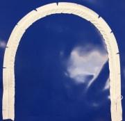 91cm x 122cm vertikal dør m/glidelås, blå