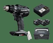 18V 5Ah Drill m/børsteløs motor, 2x batt, lader og koffert