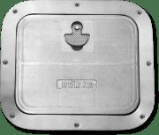 BOMAR inspeksjonsluke i aluminium, lavprofil, for yrkesbruk