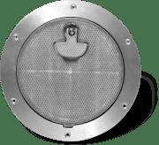 BOMAR inspeksjonsluke, rund, i aluminium, for yrkesbruk