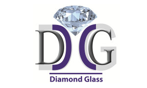 Diamond glass logo
