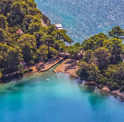 Mljet, Island in Croatia, close to Dubrovnik and Korcula