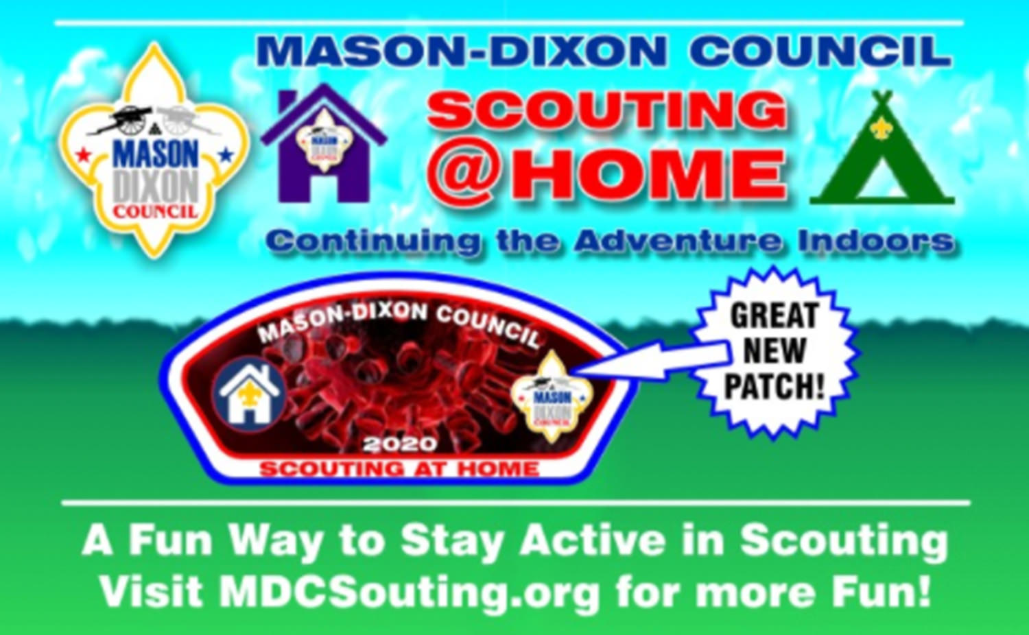 Spring Camp Scouting Fun Badge OFFICIAL SUPPLIER.