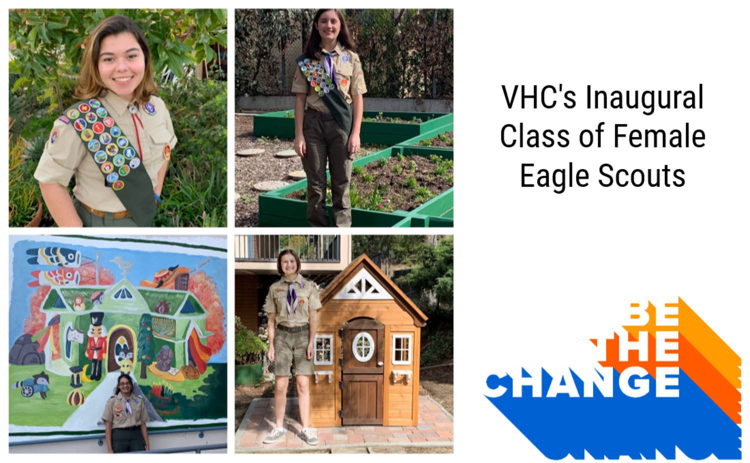 VHC's Inaugural Class of Female Eagle Scouts