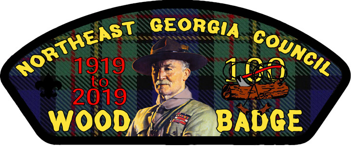 Wood Badge Paticipant 100th Anniversary Patch