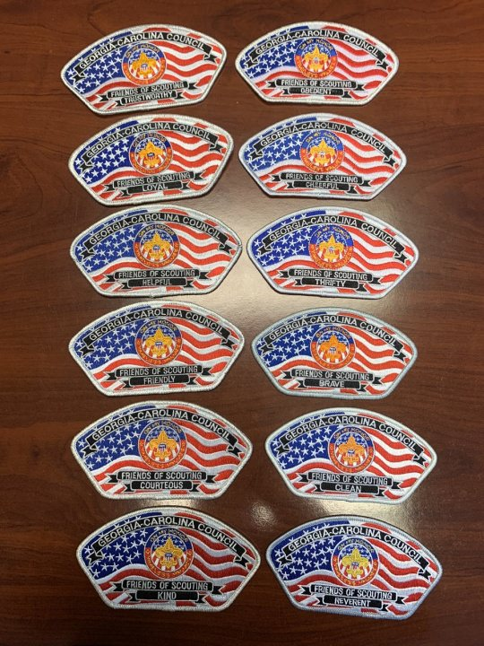 Friends of Scouting Scout Law Collection Patches - Sold Individually