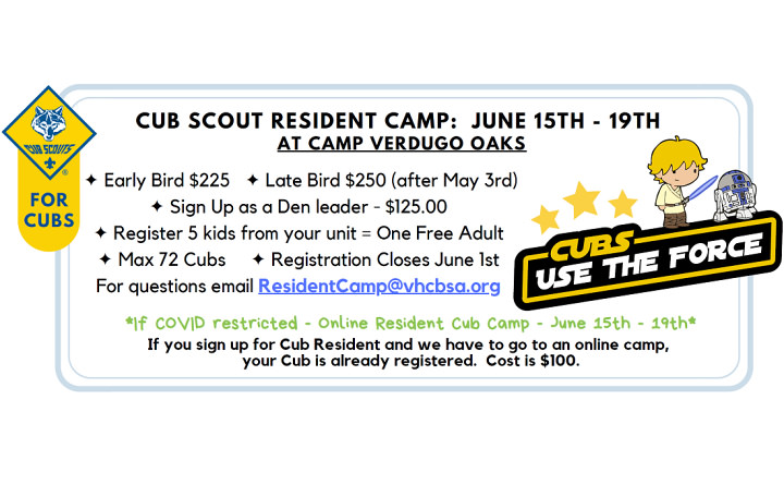 Cub Scout Resident Camp - Cubs Use the Force