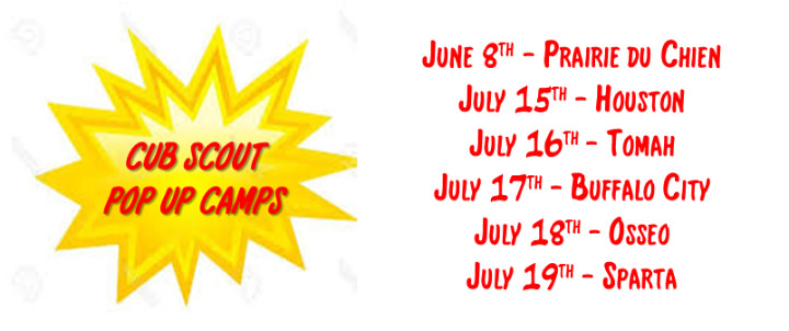 Cub Scout Pop Up Camps | Gateway Area Council BSA