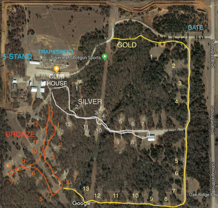 Silverleaf Course Layout