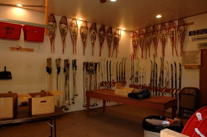 Snowshoes and Skis