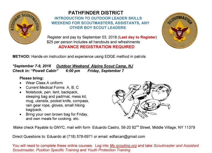 Pathfinder Introduction to Outdoor Leader Skills   Greater