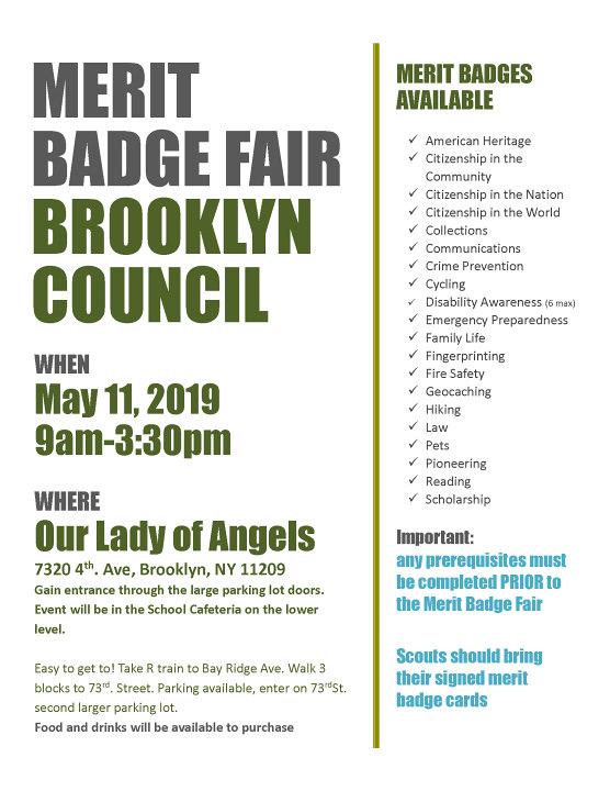 Merit Badge Fair - Brooklyn   Greater New York Councils