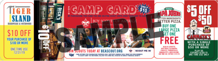 Morgan City Camp Card