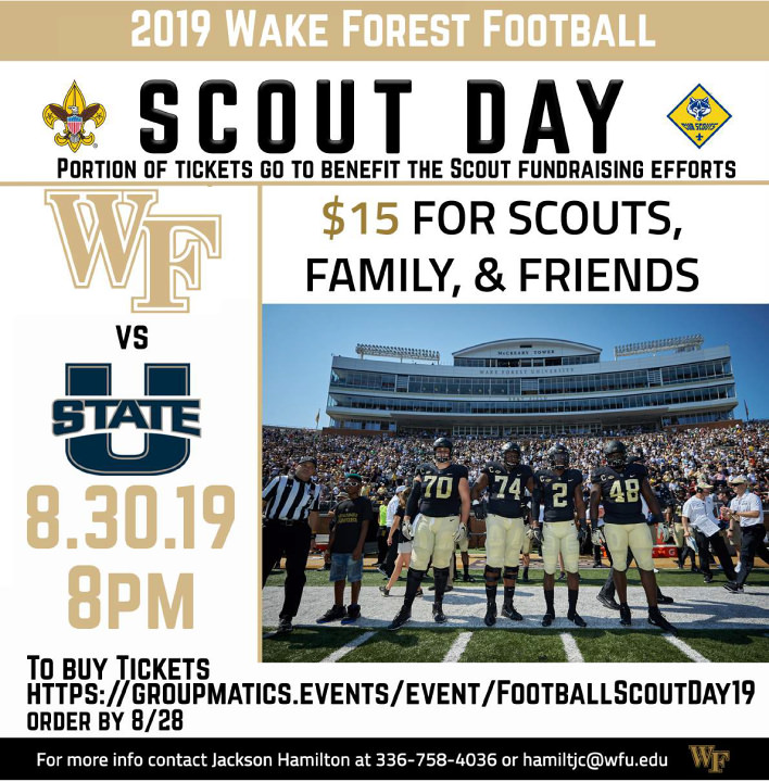 Scout Day at WFU Football  August 30, 2019