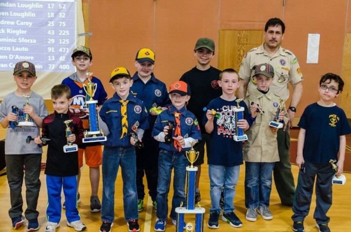 Winners of 2019 Pinewood Derby @ William T Rogers Middle School