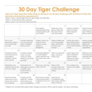 Tiger 30-Day Challenge