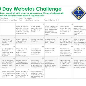 Webelos 30-Day Challenge
