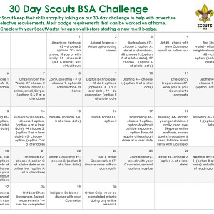 Scouts BSA 30-Day Challenge