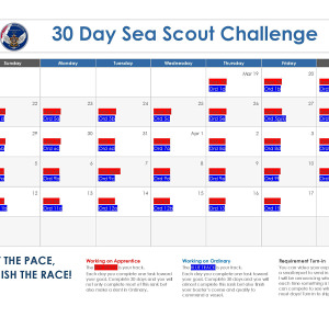 30-Day Sea Scout Challenge