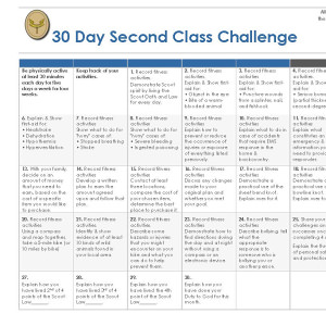 30 Day Second Class Challenge