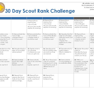 30 Day Scout Class Challenge