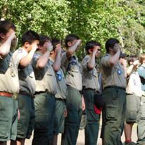Camp Staff at Flag Ceremony