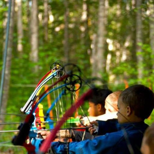 Cub Scouts at the Archery Range!