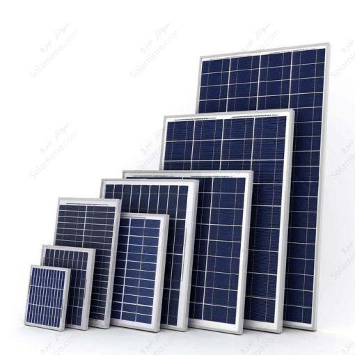 پنل خورشیدی 55 وات پلی کریستال هدایت نور