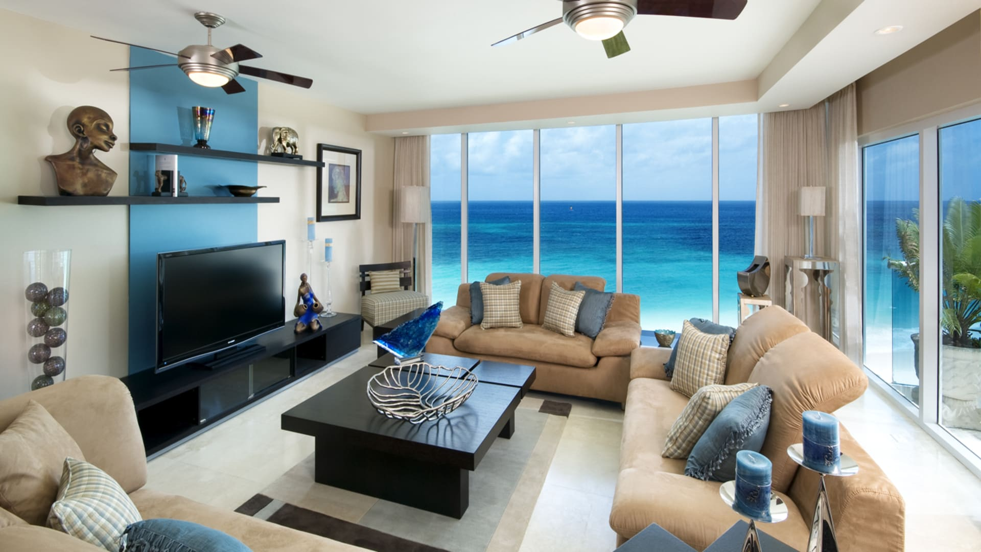 Ocean Living Room Ocean One Penthouse 601 O Apartment O Barbados Luxury Homes Real