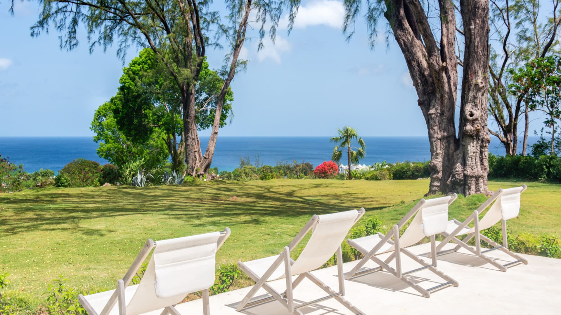 Drake House Pool And Garden With Gorgeous Sea Views View From Pool Deck ...