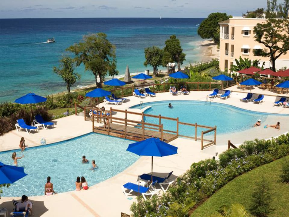View of pool & west coast of Barbados