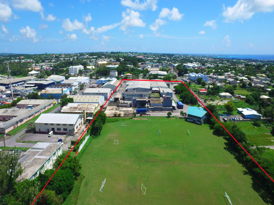 Aerial view of Wildey Commercial Estate