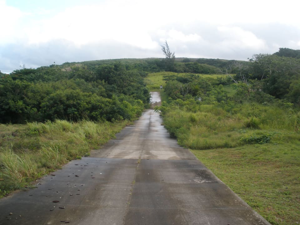 View of development road looking north