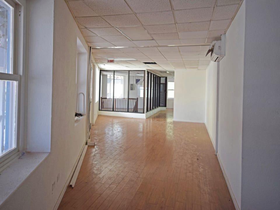 Upstairs space with beautiful hardwood floors