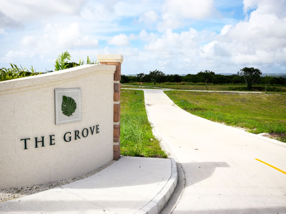 Entrance to The Grove Development