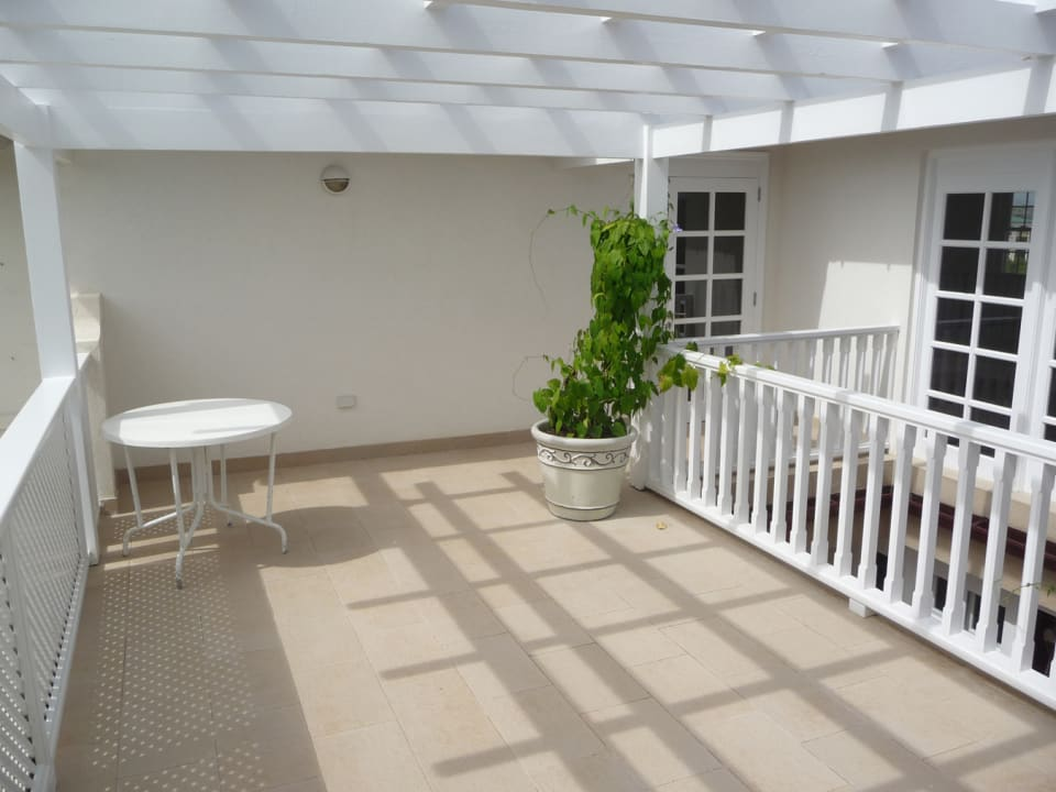 Upstairs Patio accessible from Bedrooms