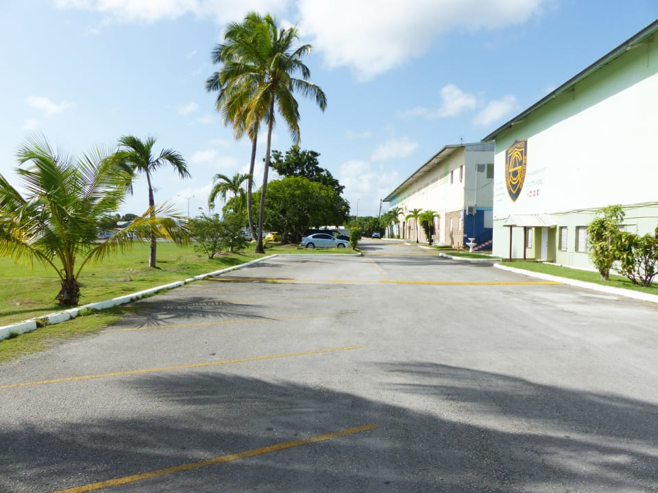 Parking at the front of the complex
