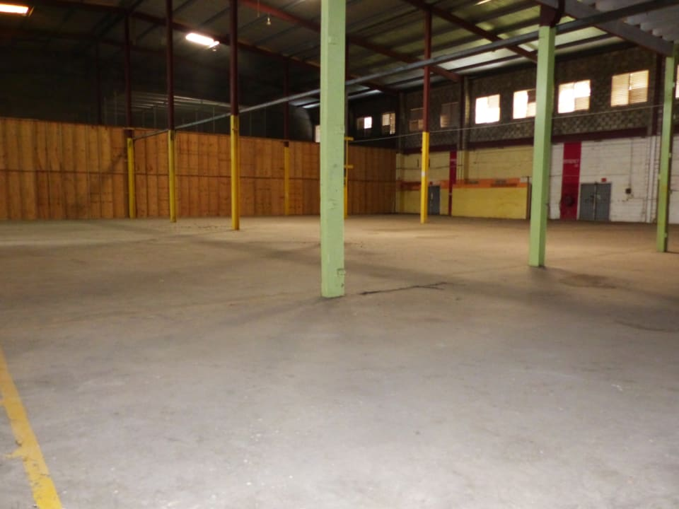 Side Angle of open warehouse space