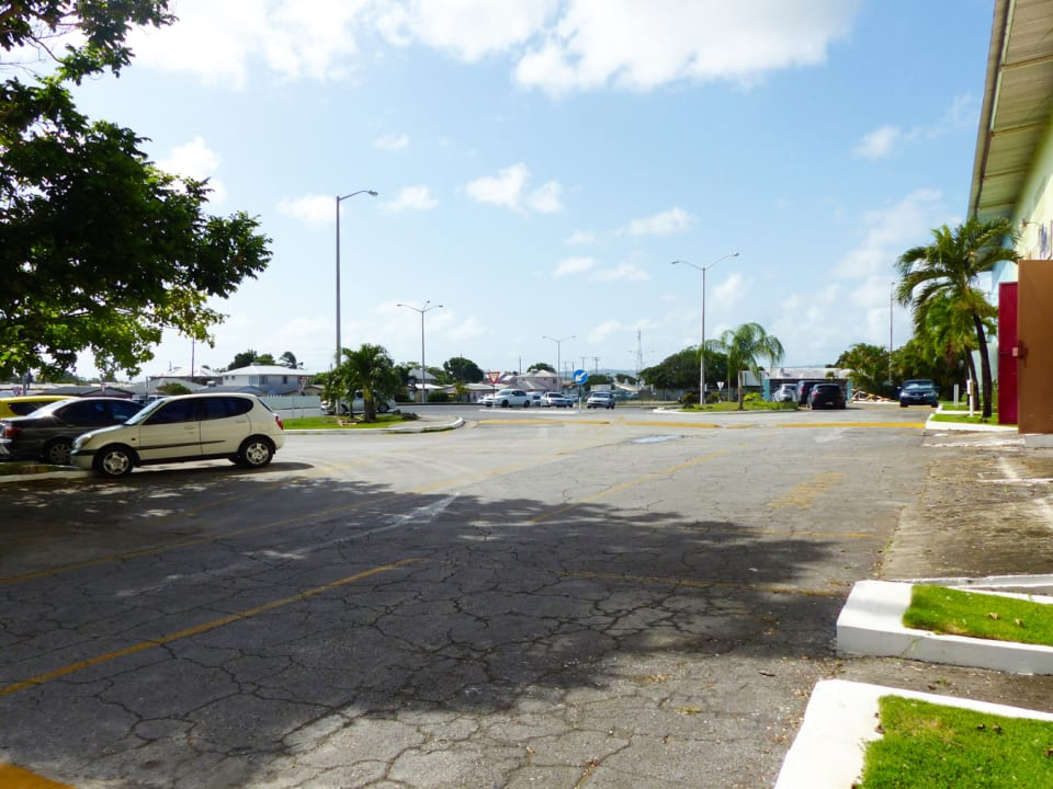 Additional parking by the roundabout