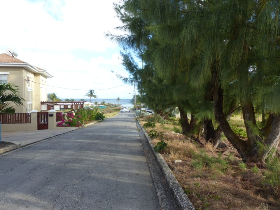 Road Scape towards the beach
