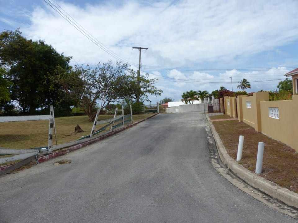 Secondary road leading to the property
