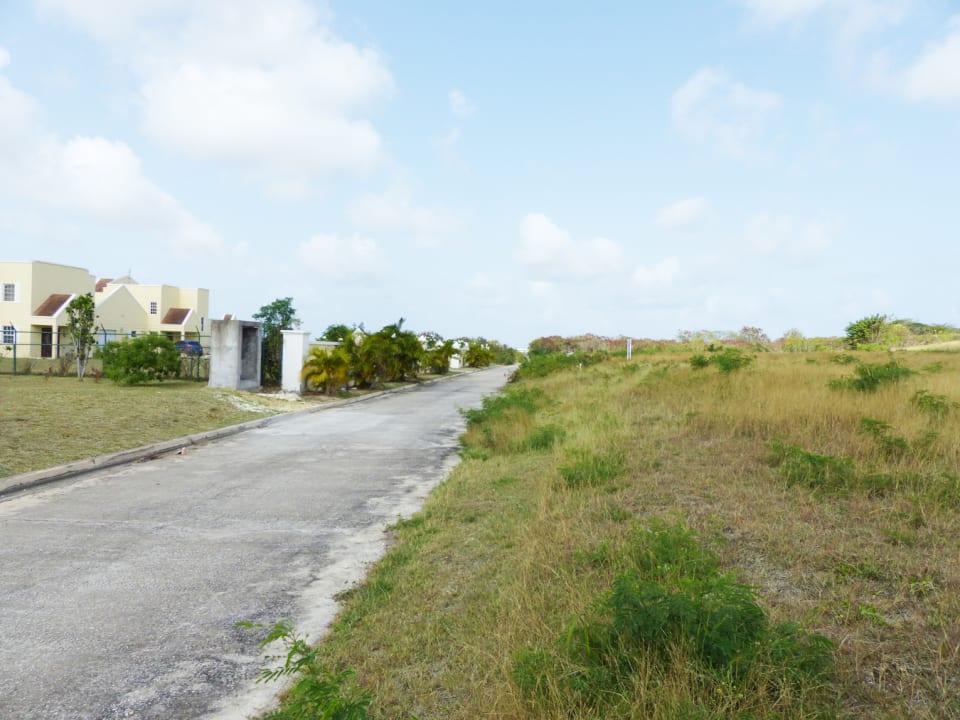Development road facing east
