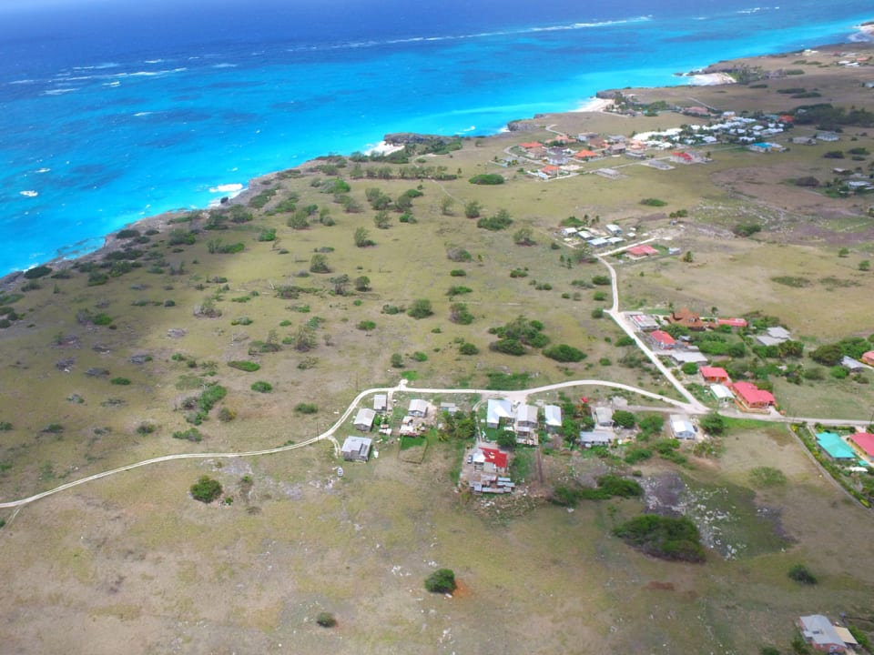 Aerial view of site looking south-east