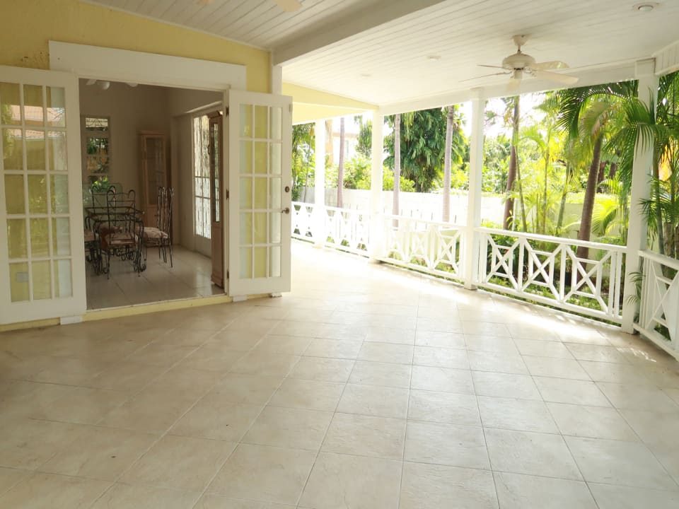 Large terrace with room for dining and lounge areas