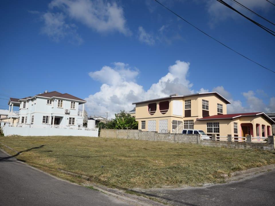 Corner Lot and Neighbourhing houses