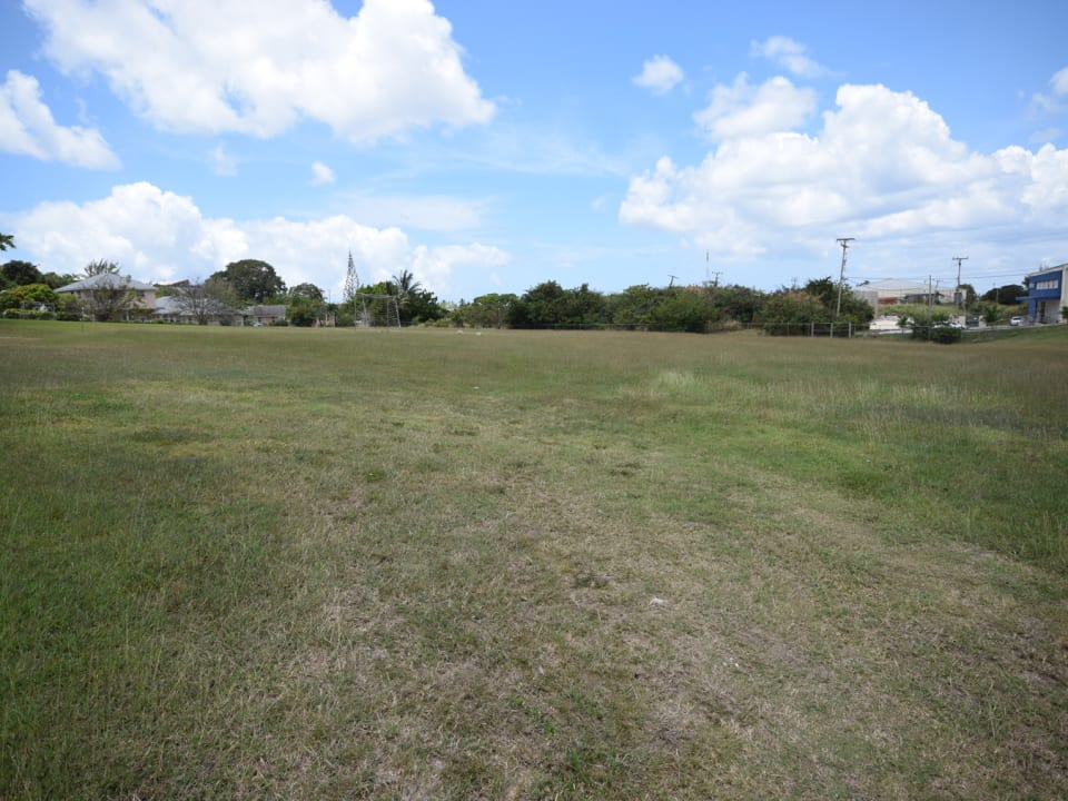 Open area adjacent to lot