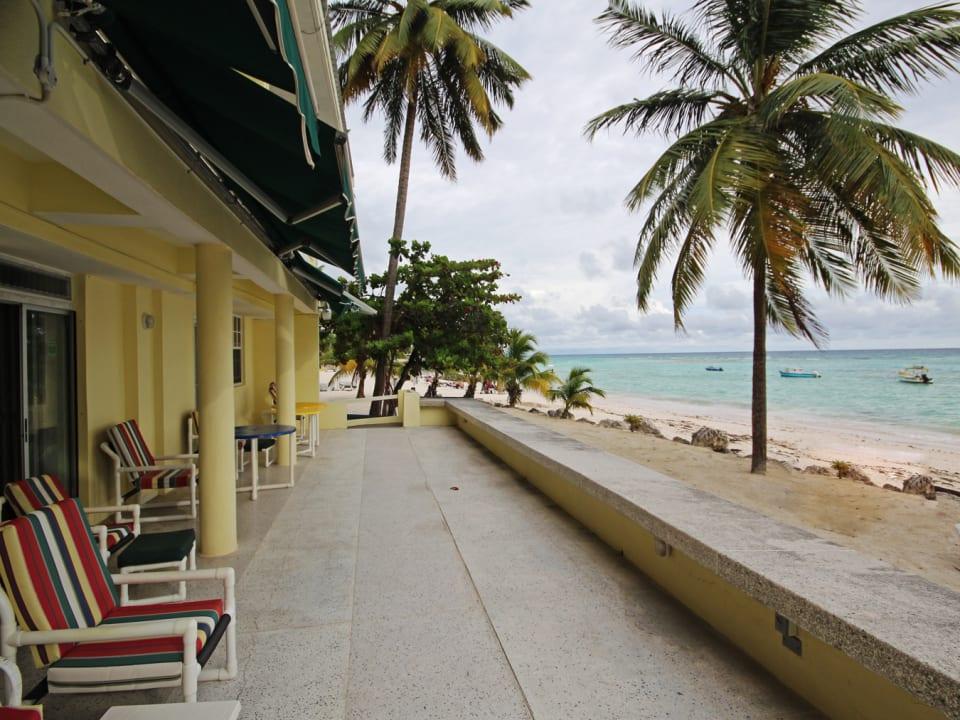 Sea front open patio